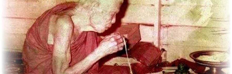 Luang Phu Ban Blessing Amulets in the Kuti Hut